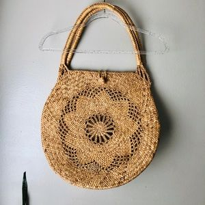 BOHO/Vintage Large Straw Bag